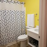 Bright and remodeled bathroom