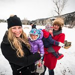Families enjoy an afternoon Nordic Bonfire - one of The Ranch's weekly winter events.