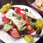 Only the freshest vegetables and extra virgin olive oil for our Greek salads!