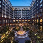 Our beautiful Central Courtyard at Night