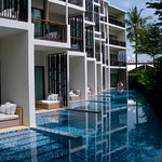 rooms on the ground floor in our bldg. you can enter the pool directly from the Patio of your ro
