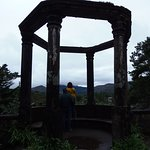 Grecian Temple of Ilnacullin on a rainy day on Garnish Island, County Cork, Ireland