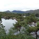 View of the water from the Grecian Temple at Ilnacullin, Garnish Island, County Cork