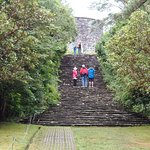 Blue shale staircase to the Martello Tower in the Gardens of Ilnacullin, Garnish Island, County