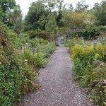Walking inside the Walled Garden at Ilnacullin on Garnish Island, County Cork, Ireland