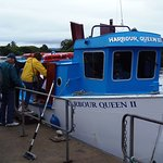 Boarding the Harbour Queen II for the ferry trip to Garnish Island, County Cork, Ireland