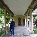 Entering the Italian Garden at Ilnacullin on Garnish Island, County Cork, Ireland