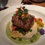 Blackened Swordfish on mashed potatoes with mascarpone!