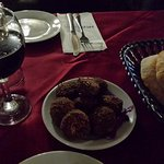 Coveted and precious falafel, pita and wine