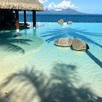 Gorgeous swim-up bar and infinity pool