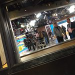 The Good Morning America crew. Looking in from the sidewalk.
