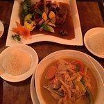 Tamarind Mango Duck and Pork Curry