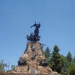vista de frente al monumento