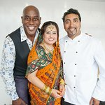 Friend Ainsley Ainsley Harriott & wife Shefali