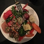 The food was pretty good. They had great salad choices, 17 delicious choices of meats that they