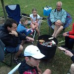 Quinney's Bush - family time around Brazier