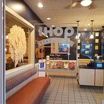 At IHOP's entry. Very classy and upscale.
