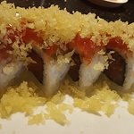 Double spicy - spicy tuna inside and out with tempura flakes