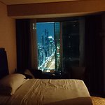 Twin room with view of Sheikh Zayed Road