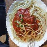 Momo fried meat, mushroom soup, spaghetti bolognaise, Bobi 4 vegetable.