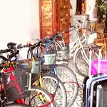 bicycle available for rent.