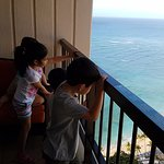 my kids checking out the view