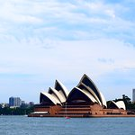 View of the Opera House from across the Sydney Harbour.