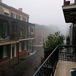 Chartres St. in the fog