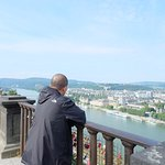 Just sucking in the view of Koblenz