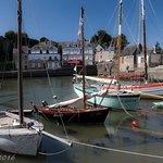 Voiliers dans le port de St Goustan