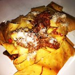 Pappardelle with pork ragu - salty but otherwise fresh