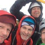 Matt, Frank, Pete & Graeme after completing the ridge route on Ben Nevis
