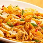 #1 selling pasta dish Spicy Chicken and Shrimp Romano