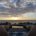 Watching the sun go down from the infinity pool.