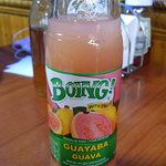 Guava drink, it was good though I am not sure what it was.