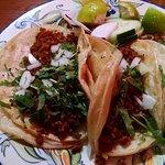 Three Chorizo Tacos, very good.