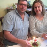 Celebrating their anniversary at Camellia Cottage B&B