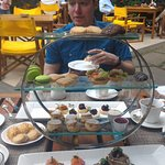 Afternoon tea table.