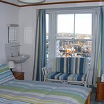Double Room showing view from window of Newlyn  harbour