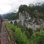 Bernina Express at Landwasser Viaduct