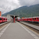 Bernina Express at Tirano
