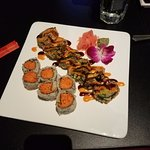 Dragon Roll and Spicy Crab Roll