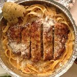 Fettuccine with Blush sauce and chicken cutlet