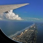 Daytona beach from departing flight