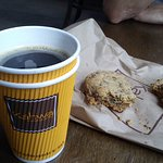 Excellent coffee - and the cookies are HUGE and VERY good.