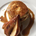 Roasted pears pair well with the almond flour pancakes