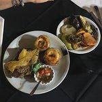 """Bife de chorizo a lo """"de Jorge"""" y verduras asadas"""