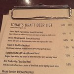 A Partial Listing of Their Beers