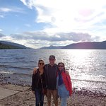 family photo at Loch Ness at the end of our whisky tour, an excellent day, many thanks John !!