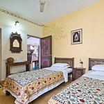 Begum room with King size bed. Also can be arranged as two twin beds as shown.